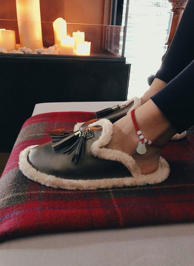 Arma Shoes Kadın Panduf Ev Botu Gri